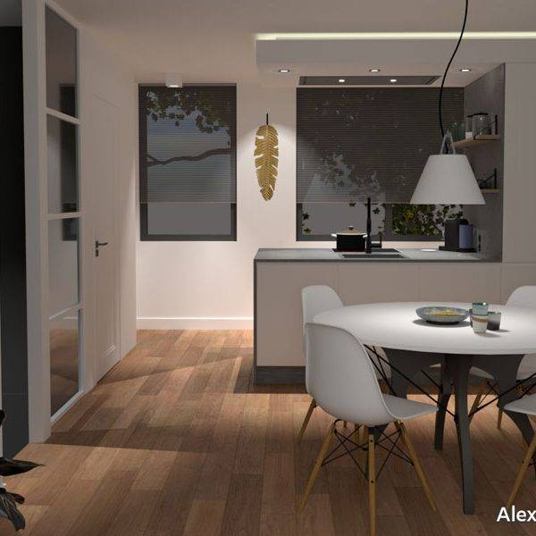 keukenontwerp voor appartement